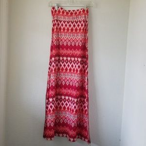 Boutique NWT Double Slit Maxi Skirt by Julia